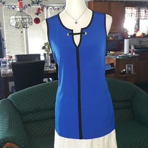 🆕️ NWT Liz Claiborne blue sleeveless tank top